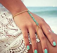 Bohemia Chain Bracelet Beads Chain Ring Bracelets