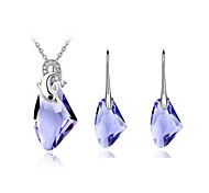 Z&X® Alloy Fashion Crystal Jewelry Set Party/Daily 1set(Including Necklaces/Earrings)