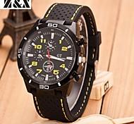 Men's Fashion Silicone Quartz Steel Belt Wrist Watch(Assorted Colors)