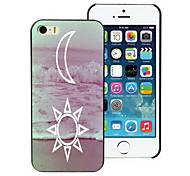la lune et le cas dur de conception solaire pour iphone 5 / 5s