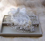 New Fashion Cap Style White With Pearl And Rhinestone Wedding Or Party Headpiece B0717H