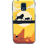motif de lion cas pc de téléphone pour les Samsung Galaxy S i9600