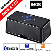 64GB TF Card Pindo W600 NFC Portable Stereo Bluetooth Speaker Play Music BT Card Read for Smartphone Sound Box Speakers