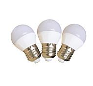 4W E27 Bombillas LED de Globo G45 SMD 2835 350 lm Blanco Fresco V 3 piezas