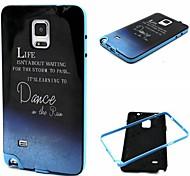design de mode Coco Fun® marche dans le motif de pluie TPU doux cas de retour de couverture pour Samsung Galaxy Note 4