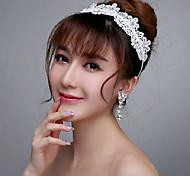 Women/Flower Girl Lace/Rhinestone Headbands With Wedding/Party Headpiece
