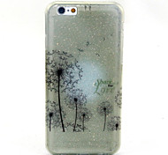 Dandelion  Pattern Glitter TPU Cell Phone Soft Shell  For iPhone 6