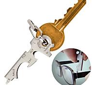 8-in-1 Multifunktions-Edelstahl-Flaschenöffner Schlüsselanhänger