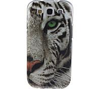 weiße Tiger-Muster-TPU weiche Tasche für Samsung i9300 Galaxy S3