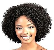 Парики из искусственных волос Без шапочки-основы Короткий Кудрявые Черный Карнавальные парики