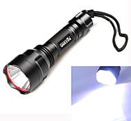 Lanternas LED (Prova-de-Água / Recarregável / Resistente ao Impacto / Superfície Antiderrapante) - LED 3 Modo 350 Lumens Cree XM-L T6-