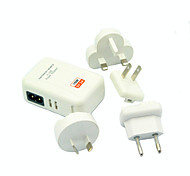 4 USB High Power Mobile Tablet Travel Charger Adapter Samsung Apple iPad