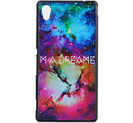 Painted Pattern Ultrathin Hard Back Cover Case for Sony M4