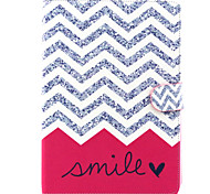 Pink Smile   Pattern PU Leather Full Body Case with Stand for iPad air/ipad5