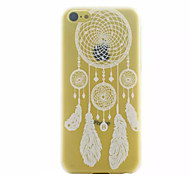 White Campanula  Pattern Ultrathin Hard Back Cover Case For iPhone 5C