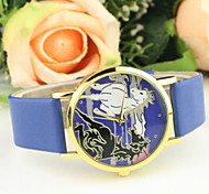 Women's Casual Horse Dial PU Band Quartz Wrist Watch Cool Watches Unique Watches Fashion Watch