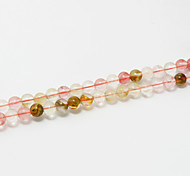 Beadia 39Cm/Str (Approx 98Pcs) Natural Stone Beads 4mm Round Watermelon Pink Quartz Loose Beads DIY Accessories