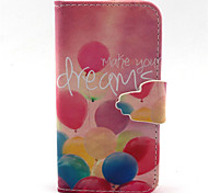 Balloon  Pattern PU Leather Phone Case For iPhone 4/4S