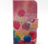 Ballon-Muster PU-Leder-Tasche für iPhone 4 / 4S