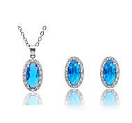 Fashion  Crystal Jewelry Set (1set)