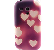 cuore modello materiale TPU soft phone per mini i8190 galassia S3