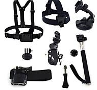 ourspop gp-k30 kit pour GoPro Hero 4 3 + / 3/2/1 caméra 8-en-1 accessoires