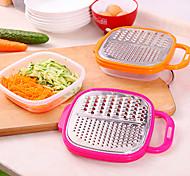 ralador de aço inoxidável fatiador de alimentos vegetais com cozinha recipiente (cor aleatória)