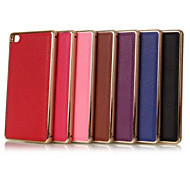 5.2 Inch Metal-Frame and Lichee Luxury PU Two-in-One Model Back Cover Case for Huawe P8 (Assorted Colors)