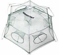 Foldable 6-Hole Shrimp Pot Cage - Green
