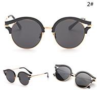 Sunglasses Women's Modern / Fashion Round Silver / Gold Sunglasses Full-Rim