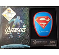 Superman 6000mAh Multi-Output Power Bank External Battery for iPhone6/Samsung Note4 and other Mobile