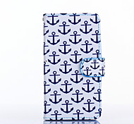 Anchor Pattern PU Leather Full Body Case with Stand for Multiple LG G3/G3MINI/L90