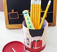 tema uk bretanha porta-lápis de desktop soldado moeda recipiente de poupança (cor aleatória)