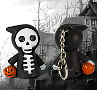 Death with Pumpkin Halloween LED Keychain with Light & Sound Effect