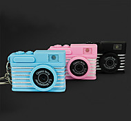 Mini Camera Keychain with LED Light Flash Torch Charm Ornament (Random Color)