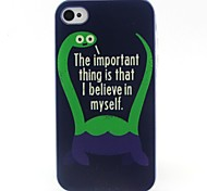 Monster Pattern TPU Material Soft Phone Case for iPhone 4/4S