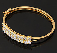 u7® sprkle plateado brazaletes de puño zirconia cúbicos alta calidad de oro 18k brazaletes joyas regalo para las mujeres