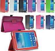 Para Funda Samsung Galaxy con Soporte / Flip Funda Cuerpo Entero Funda Un Color Cuero Sintético Samsung Tab 3 10.1 / Tab 3 7.0