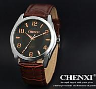 CHENXI® Men's Dress Watch Simple Design Brown Leather Strap Wrist Watch Cool Watch Unique Watch