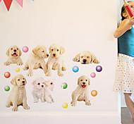 наклейки для стен стены наклейки наклейки в стиле парк собаки ПВХ стены
