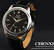 CHENXI® Men's Dress Watch Classic Design Black Leather Strap