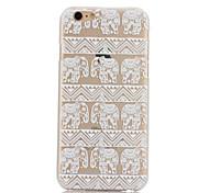 elefante padrão caso de volta difícil para iphone 6 mais