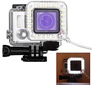 USB Port 36 LED Ring Shooting Night Flash Light Works with Standard Waterproof Housing for GoPro Hero 3/3+ 4 Cameras