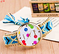 Lady Watch Watch Colorful Butterfly Woven Bracelet Bohemia Watch