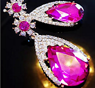 """New Arrival Hot Selling High Quality Rhinestone Water Drop Gem Earrings"""