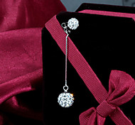 S925 Sterling Silver Diamond Sterling Silver Earrings long Atmospheric Fashion