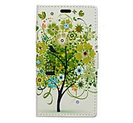 patrón de árbol verde caso de cuerpo completo para Huawei p8 Lite