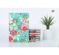 caso capo disegni fiori panited copertura folio custodia in plastica dura con il basamento per l'aria Apple iPad (colori assortiti)