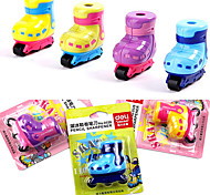 Designed Inline Skate Shaped Pencil Sharpener Office Pencil Cutter (Random Color)
