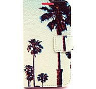 Coconut Tree Pattern PU Case for Samsung Galaxy Core 2 G355 GALAXY CORE Prime G360 Galaxy Ace 4 G357 Galaxy Alpha G850
